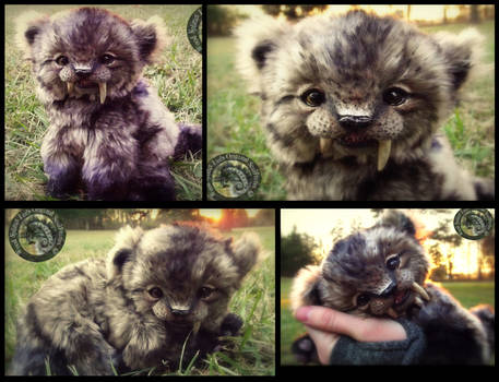SOLD- HAND MADE Poseable Baby Sabertooth Tiger! by Wood-Splitter-Lee
