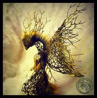 SOLD HAND MADE Fantasy Forest Guardian Phoenix