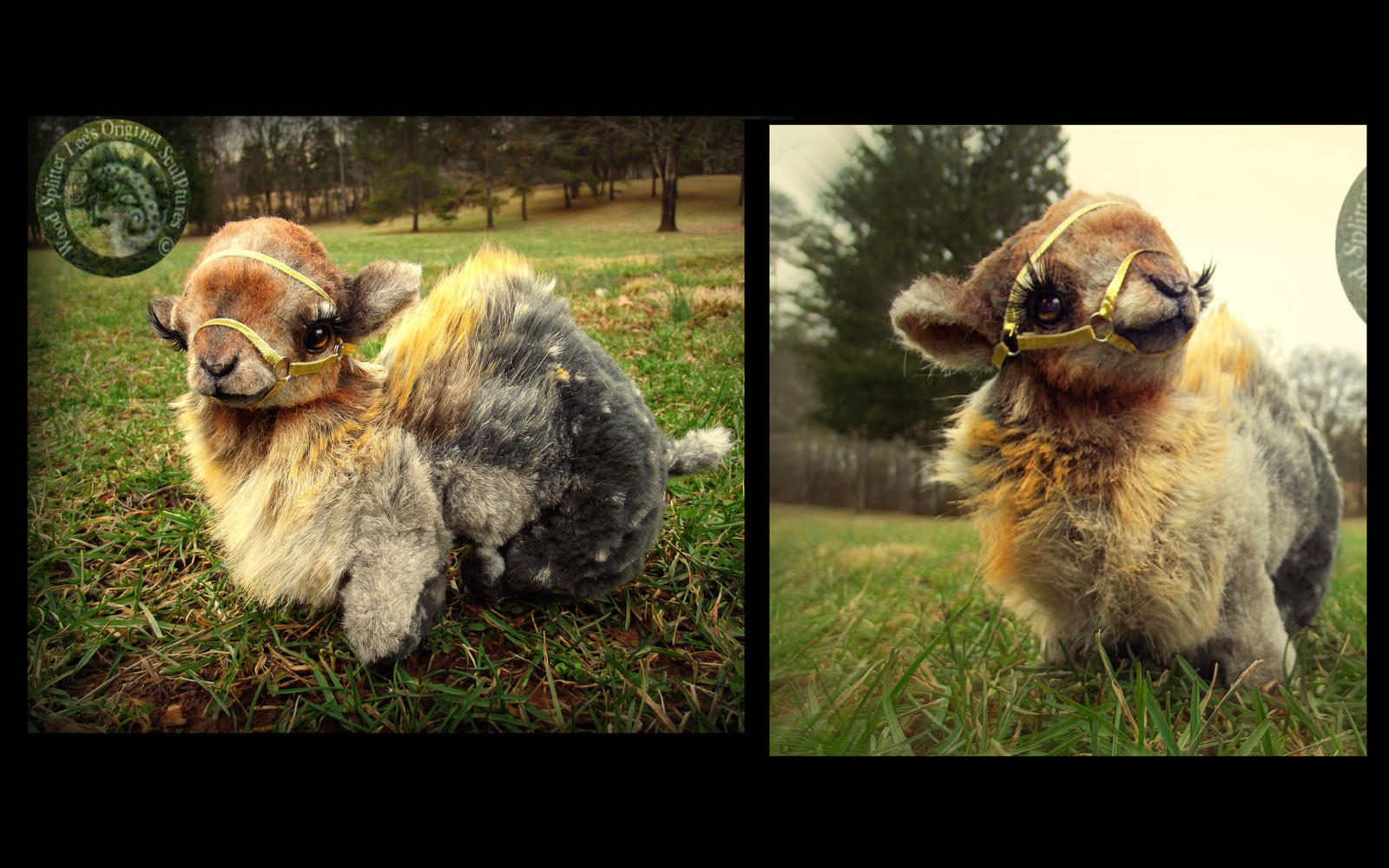 SOLD- HAND MADE Poseable Baby Camel!