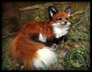SOLD- HAND MADE Poseable Baby Fox!
