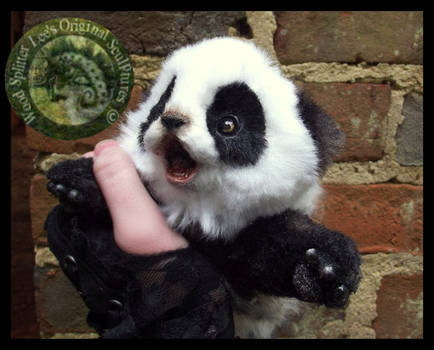 Sold HAND MADE Poseable Baby Panda!