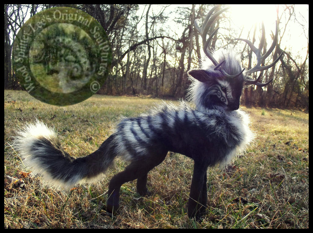 Sold Handmade Poseable Stag Of Storms By Wood Splitter