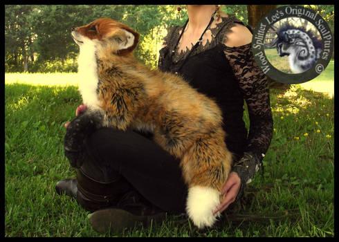 SOLD- HANDMADE LIFE SIZED Posable Fox