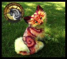 SOLD Handmade Poseable FIRE FOX