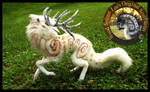 SOLD Handmade Poseable Guardian Stag of the Wind