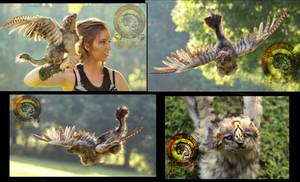 SOLD  Handmade Poseable Troubadour The Wolf Hawk