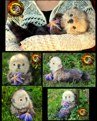 SOLD Handmade Poseable Baby Otter Poppy! by Wood-Splitter-Lee