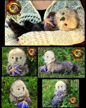 SOLD Handmade Poseable Baby Otter Poppy! by Wood-Splitter-Lee