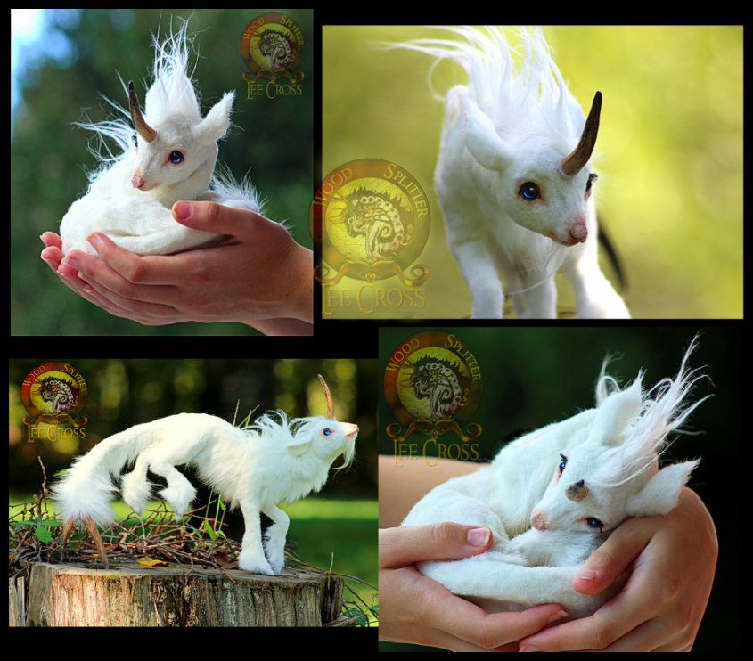 SOLD Puff The Baby Unicorn By Wood Splitter Lee
