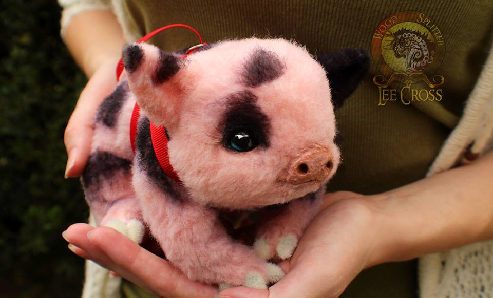 Sold Poseable Baby Teacup Pig By Wood Splitter Lee