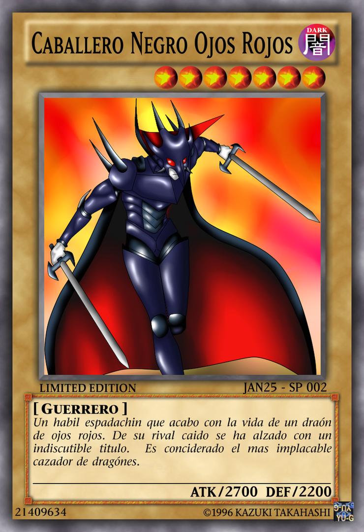 Carta Caballero Negro Ojos Rojos by janwolfsky