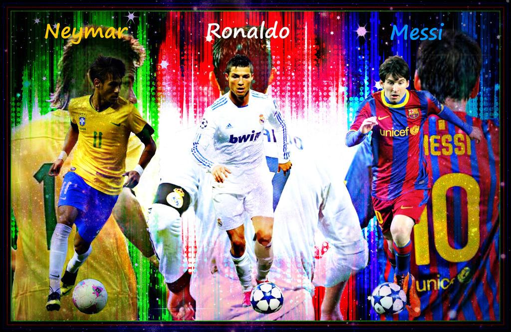 Ronaldo,Messi,Neymar by MaraJade3171 on DeviantArt