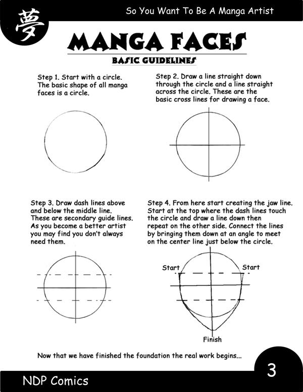 How to draw manga faces page 1 by NDPcomics on DeviantArt