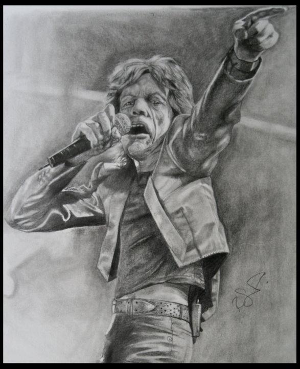 Mick Jagger by brokenpuppet86