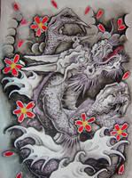 Dragon design by brokenpuppet86