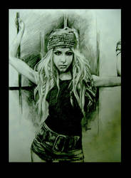 christina in my pencil drawing by vitamintsl
