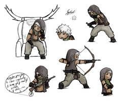 Jackal doodles by Sofstar