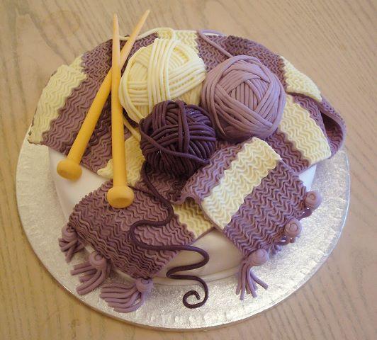 Knitting Birthday Images : Knitted cake by karenjerram on deviantart