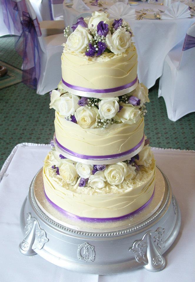 White chocolate wrapped wedding cake 2 by KarenJerram