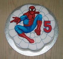 marvel cake- spider man by KarenJerram