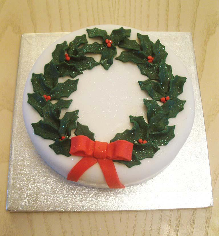 green holly wreath cake by KarenJerram