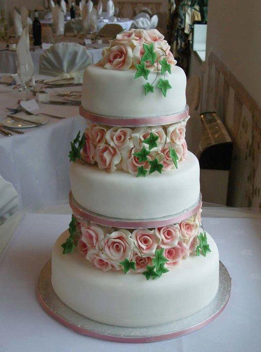Wedding Cake Pictures With Roses : pink rose wedding cake by KarenJerram on DeviantArt