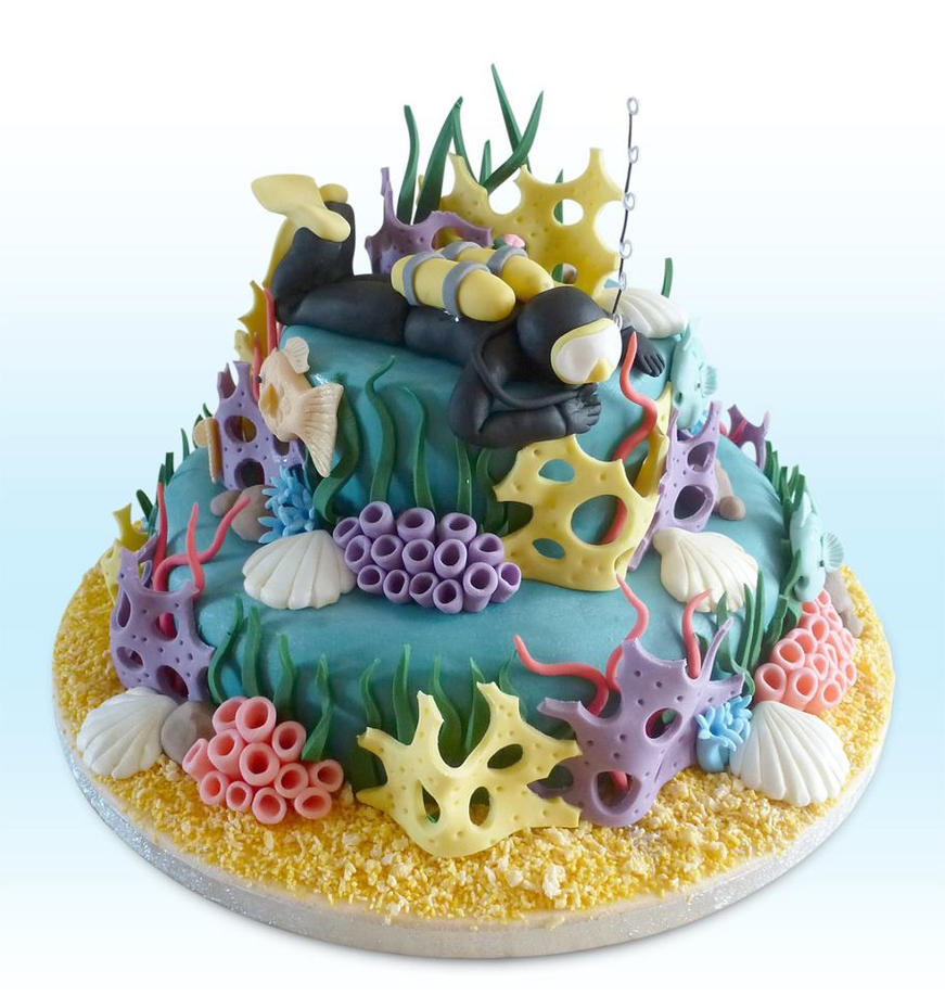Scuba cake by KarenJerram