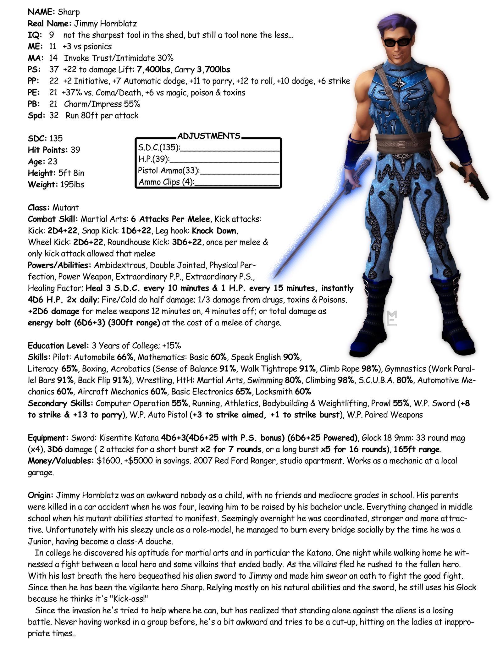 Sharp Character Sheet