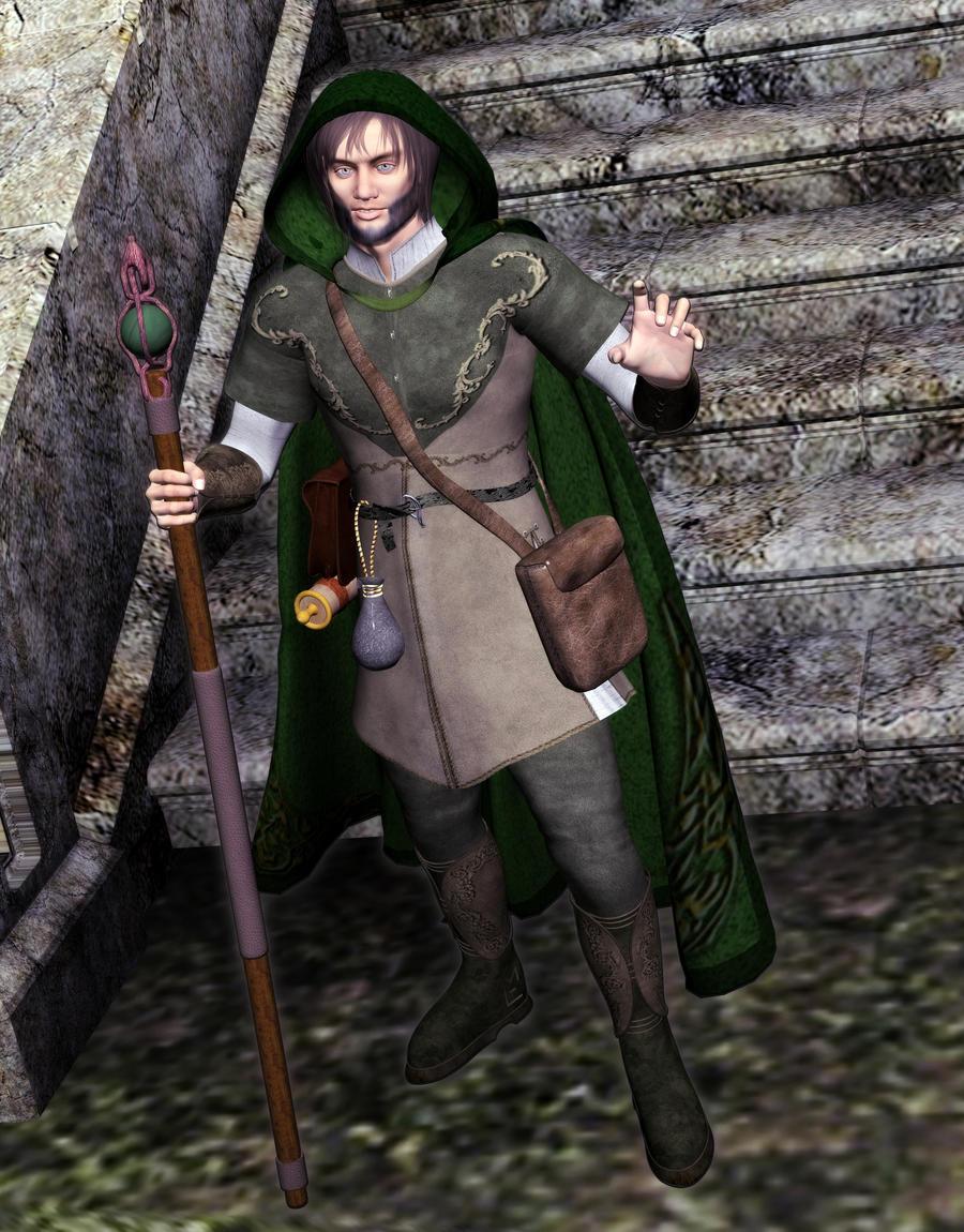 Finag the Green Character Portrait