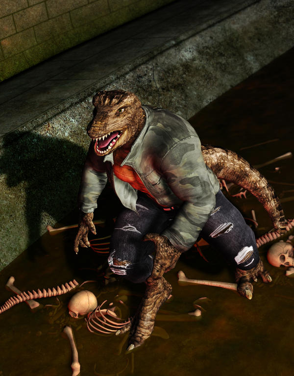 Murderous Croc by MADMANMIKE