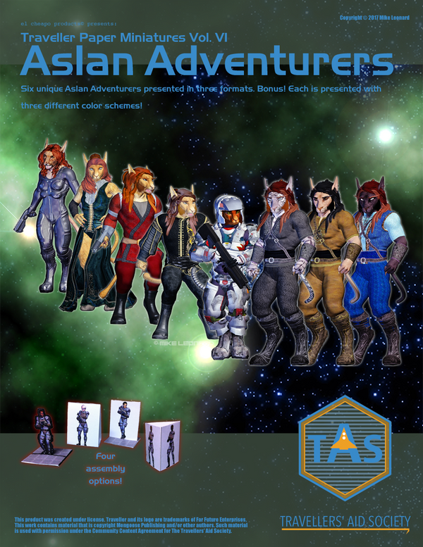 Traveller Paper Minis Vol 5 Aslan Adventurers by MADMANMIKE