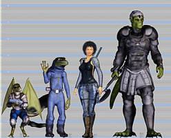 Traveller RPG Height Comparison