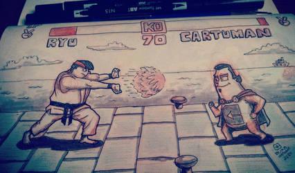 #inktober day 24 - Cartumans game