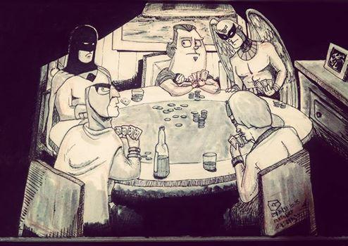 #inktober days 29/30/31 - poker