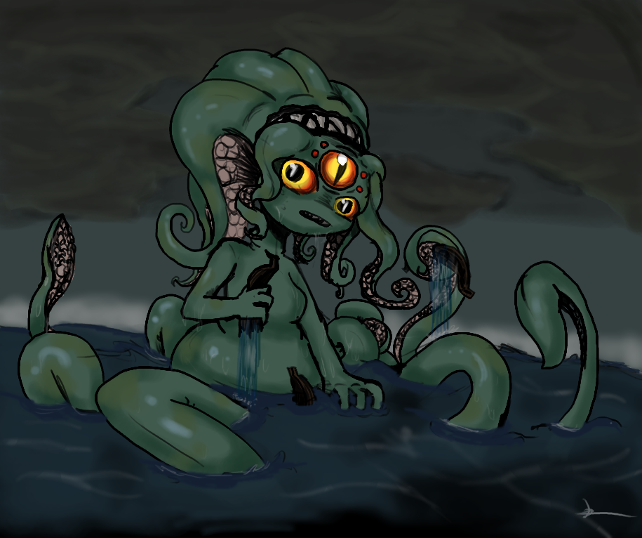 Sea Monster Girl By Organicgranite On Deviantart