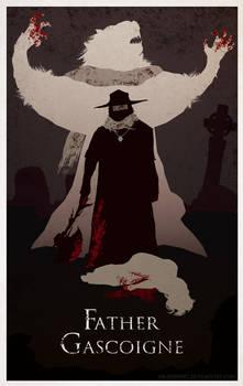 Bloodborne Minimal Poster - Father Gascoigne