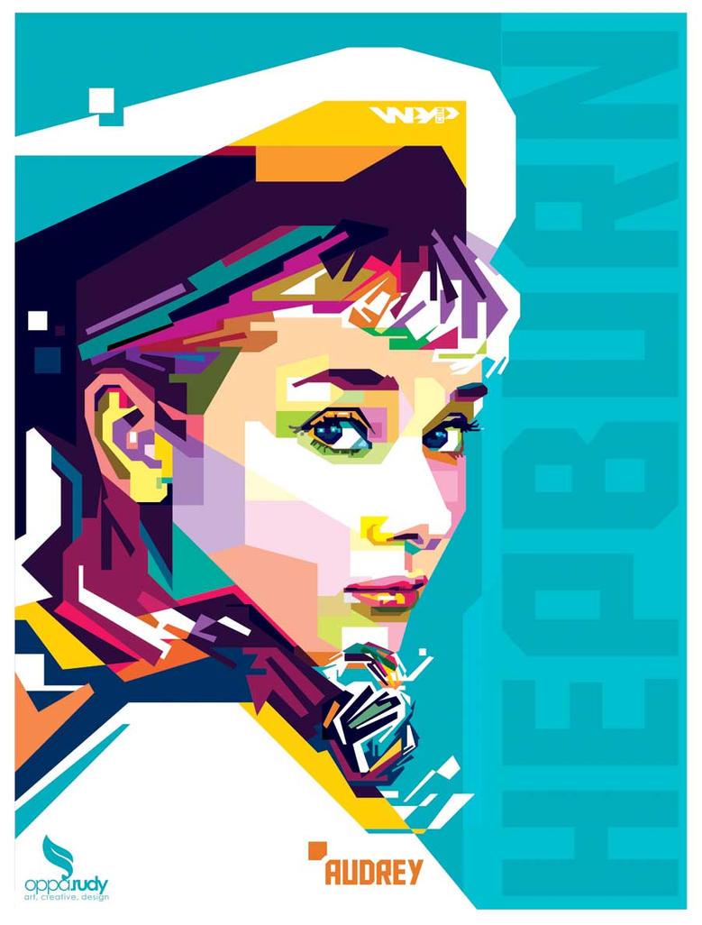 Audrey Hepburn WPAP by opparudy
