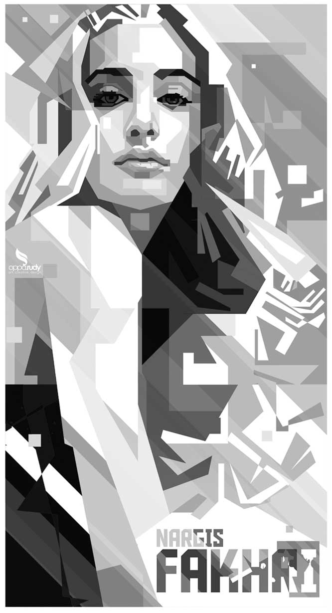 Nargis Fakhri GREYSCALE by opparudy