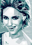 Dianna Agron monocrome by opparudy
