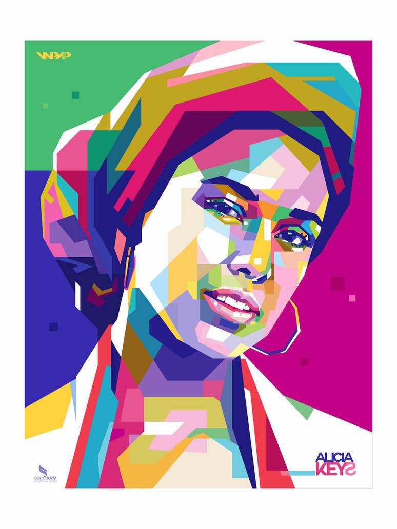 Alicia Keys WPAP by opparudy