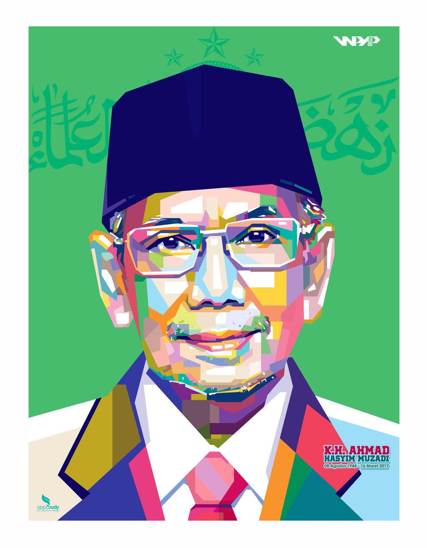 KH Ahmad Hasyim Muzadi - WPAP by opparudy