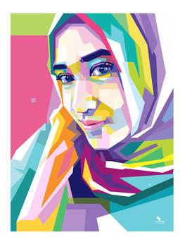 Girl Hijab - WPAP