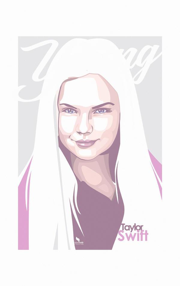 Taylor Swift IllustrationArt  by opparudy