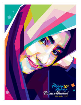 WPAP Hijaber - by @opparudy