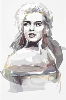 Marilyn Monroe - Vector WaterColor