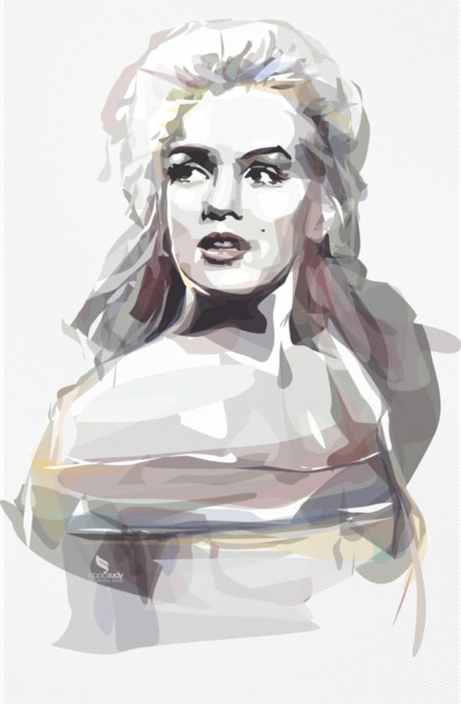 Marilyn Monroe - Vector WaterColor by opparudy