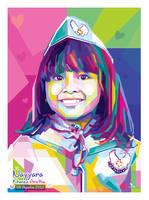 Cute Child - Pop art WPAP by @opparudy by opparudy