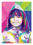 Cute Child - Pop art WPAP by @opparudy