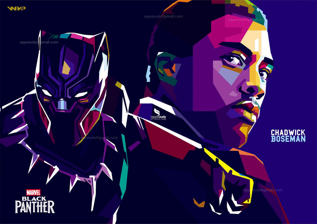 Chadwick Boseman Black Panther Pop Art by opparudy