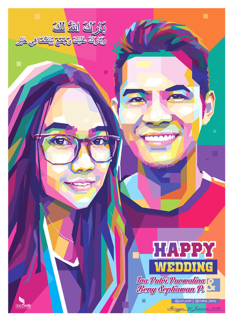 WPAP ART COUPLE  by opparudy
